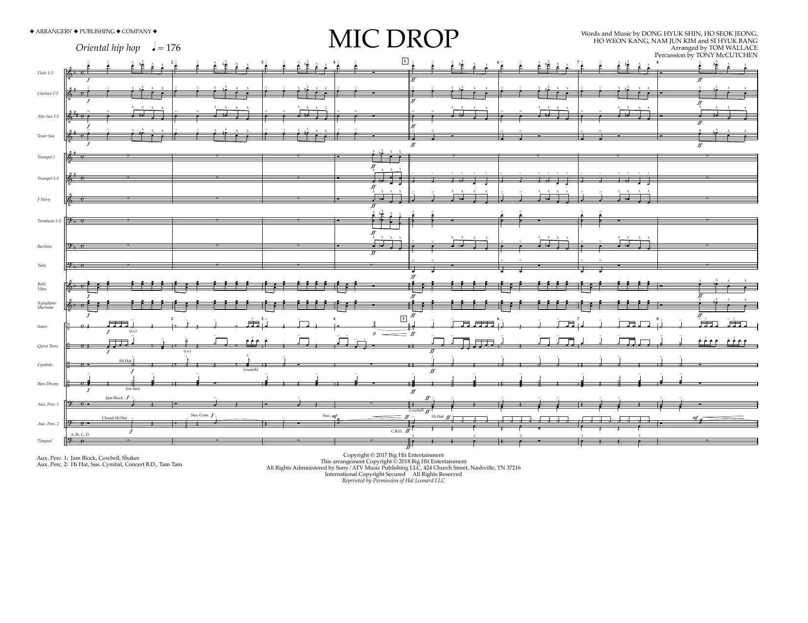 Download Tom Wallace 'Mic Drop - Full Score' Digital Sheet Music Notes & Chords and start playing in minutes