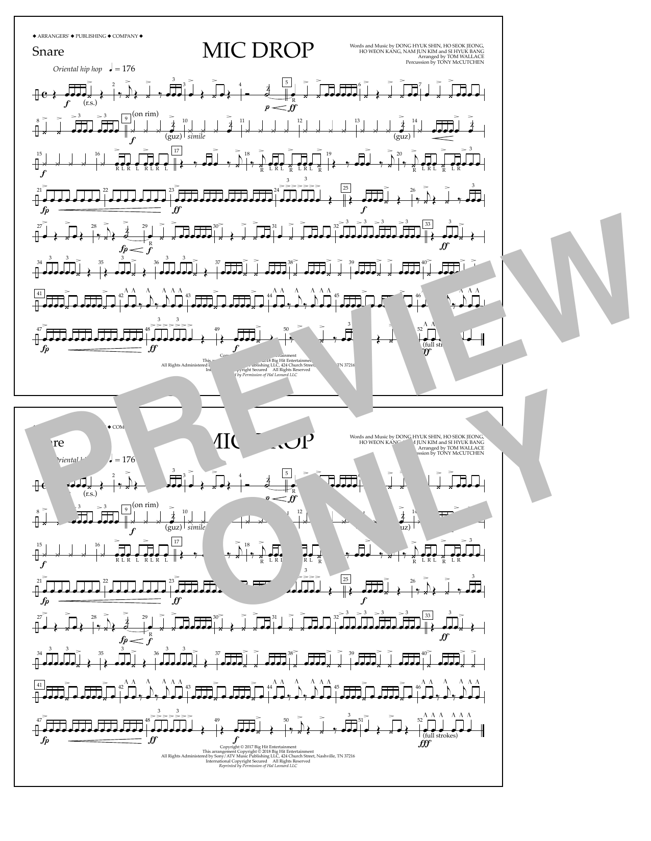 Download Tom Wallace 'Mic Drop - Snare' Digital Sheet Music Notes & Chords and start playing in minutes
