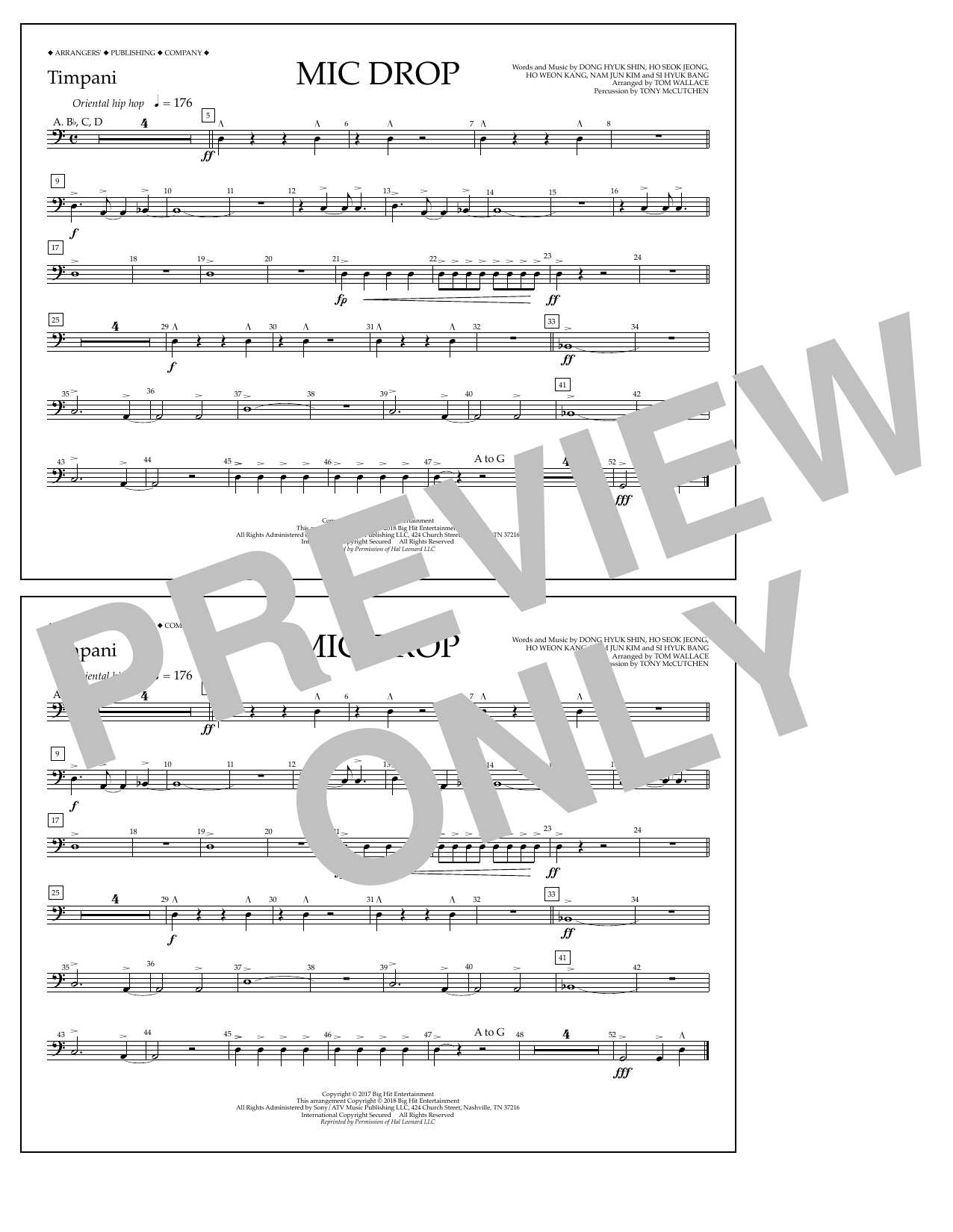 Download Tom Wallace 'Mic Drop - Timpani' Digital Sheet Music Notes & Chords and start playing in minutes