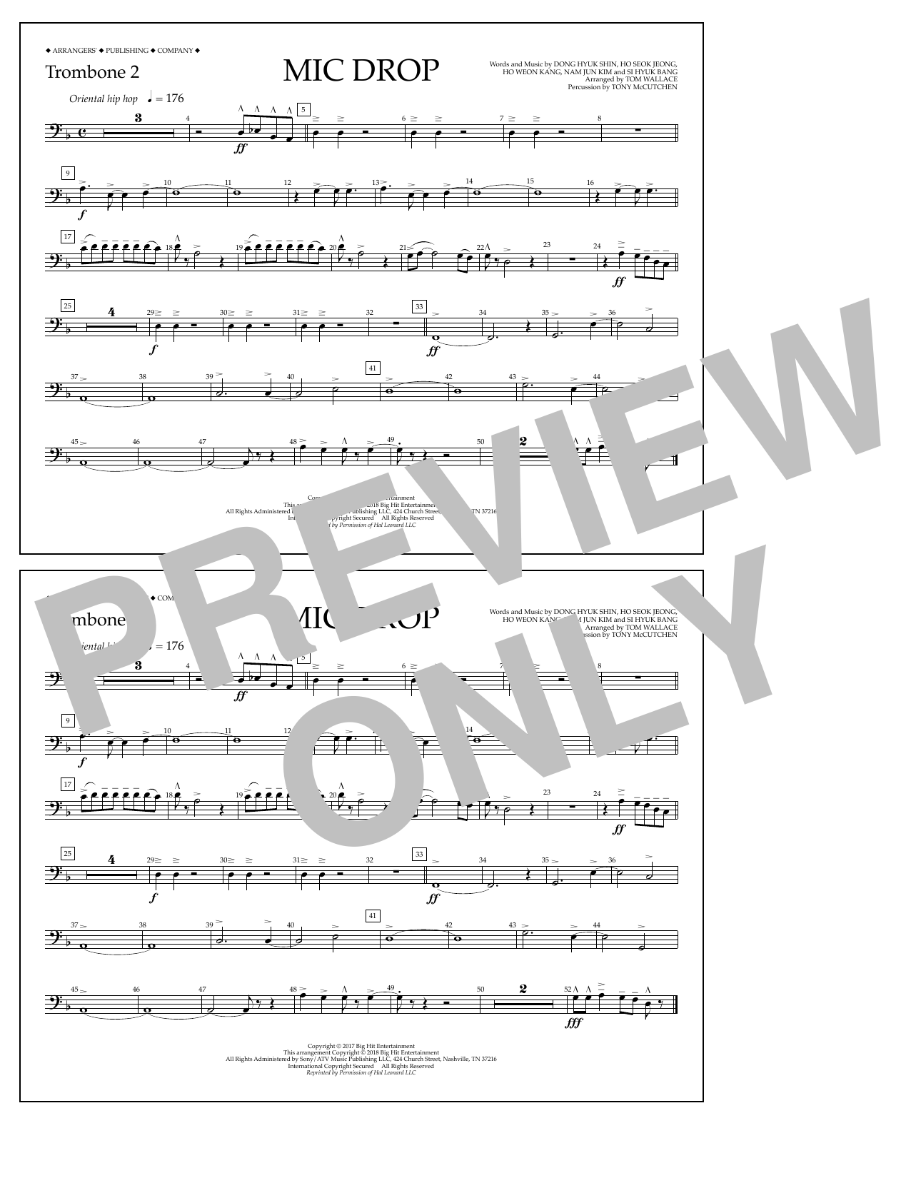 Download Tom Wallace 'Mic Drop - Trombone 2' Digital Sheet Music Notes & Chords and start playing in minutes
