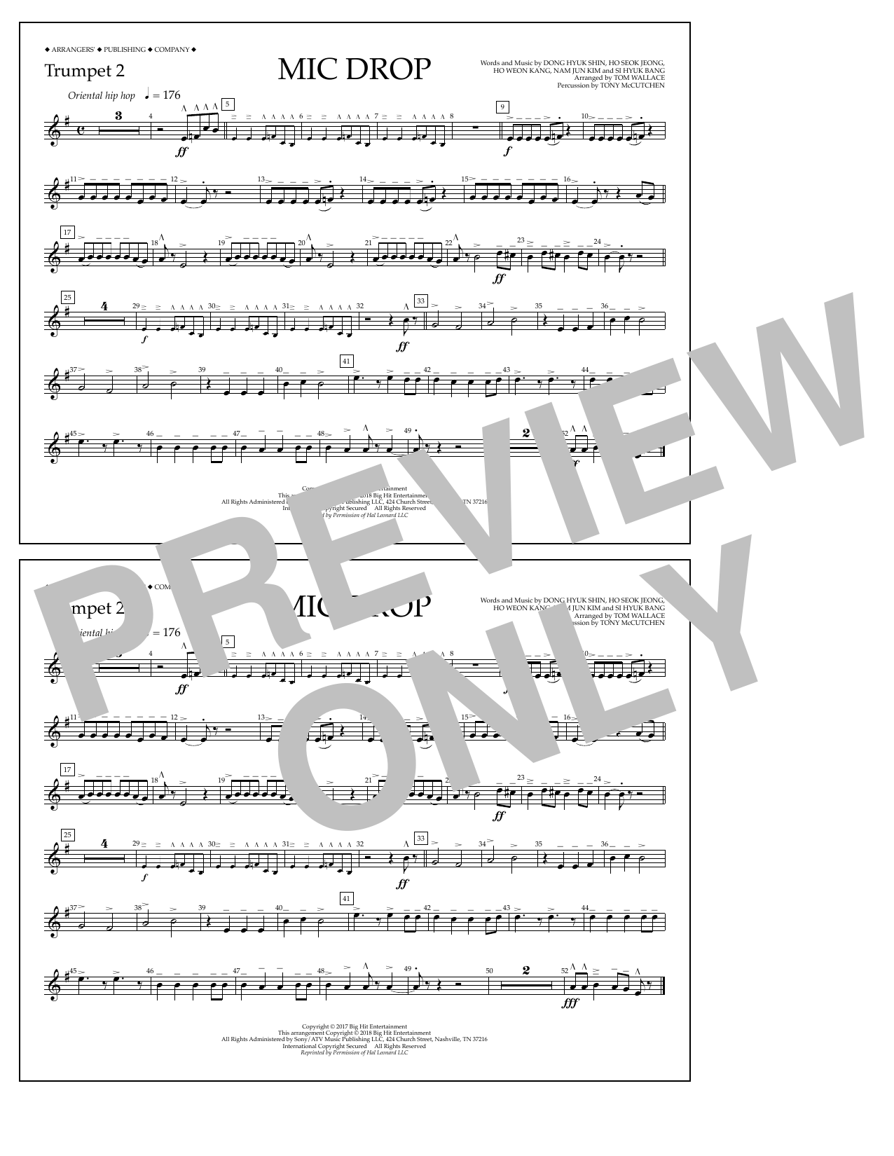 Download Tom Wallace 'Mic Drop - Trumpet 2' Digital Sheet Music Notes & Chords and start playing in minutes