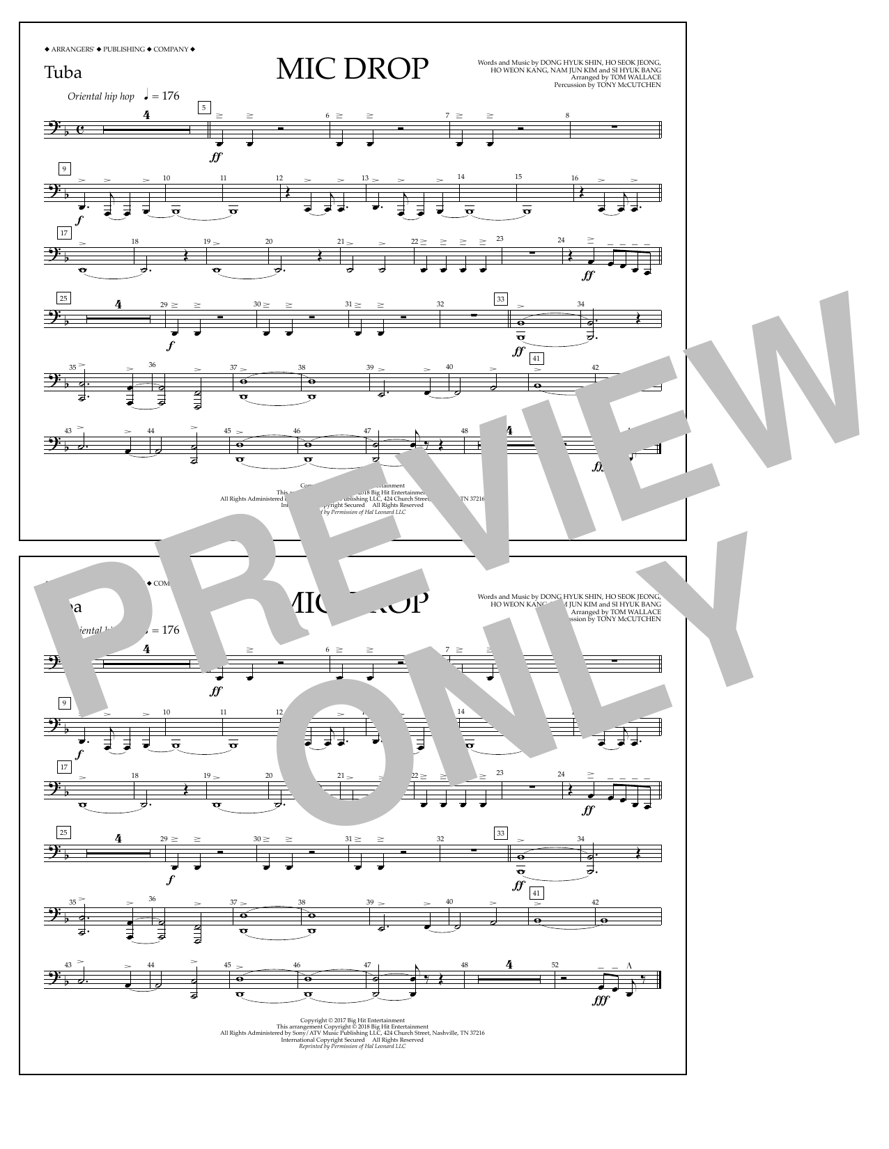 Download Tom Wallace 'Mic Drop - Tuba' Digital Sheet Music Notes & Chords and start playing in minutes