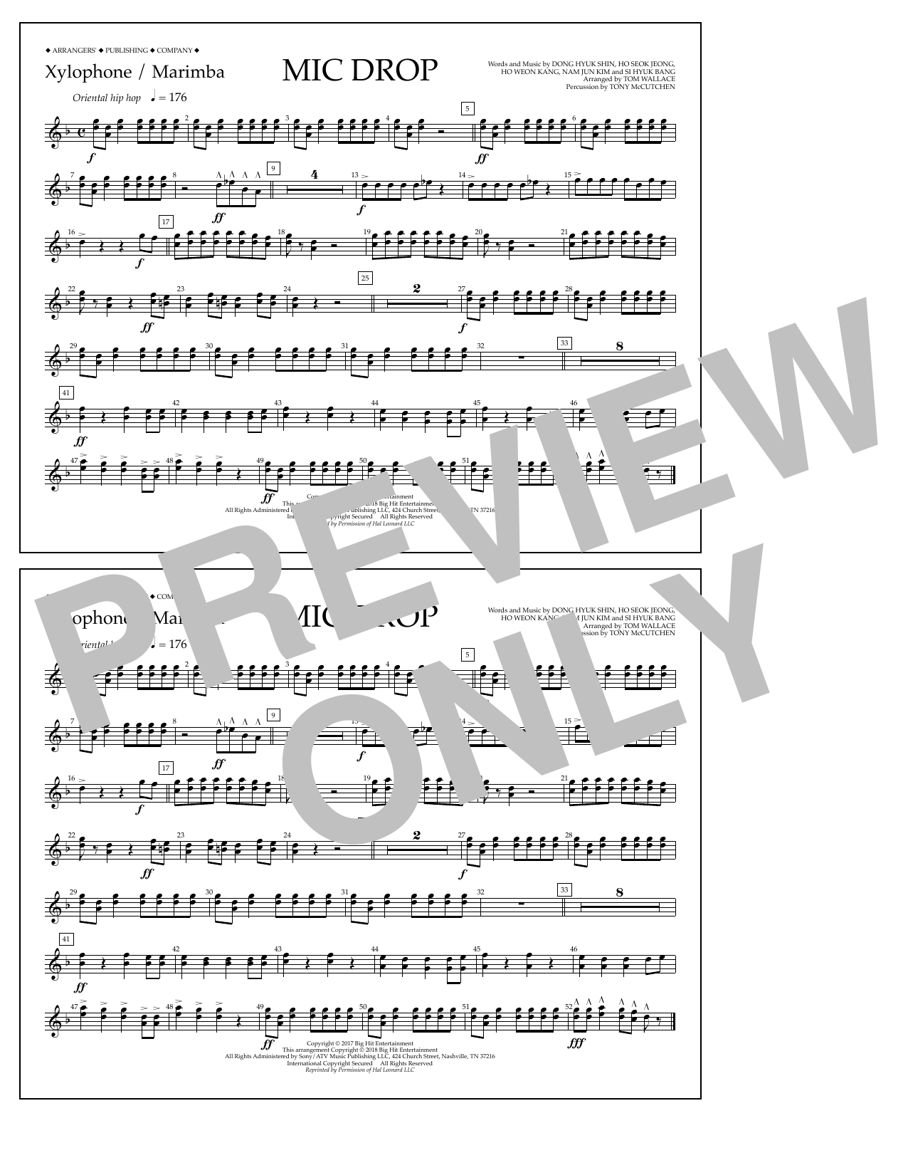 Download Tom Wallace 'Mic Drop - Xylophone/Marimba' Digital Sheet Music Notes & Chords and start playing in minutes