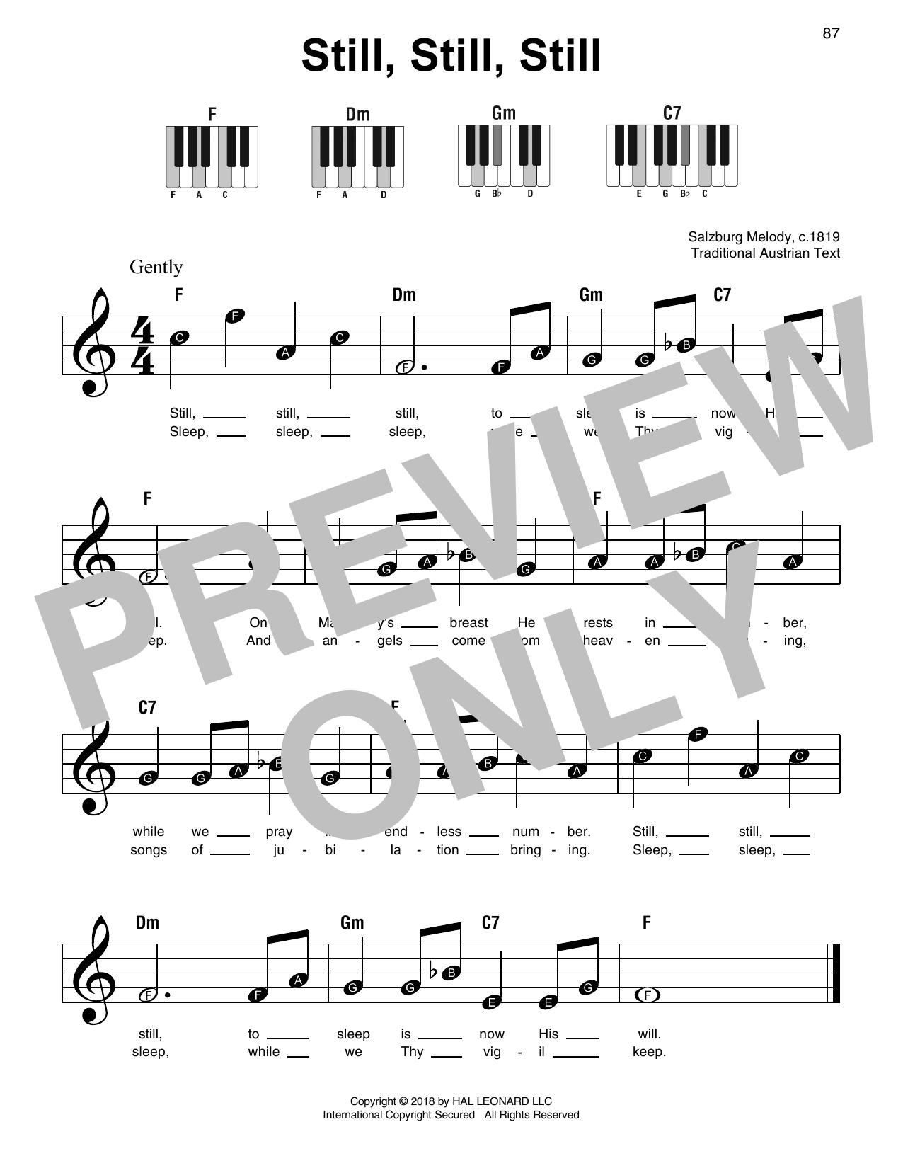 Traditional Still, Still, Still sheet music notes and chords
