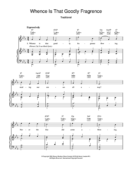 Traditional Whence Is That Goodly Fragrance sheet music notes and chords
