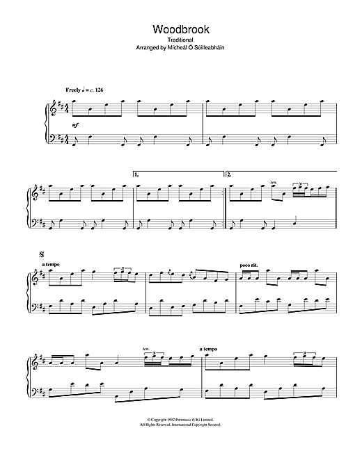 Download Traditional 'Woodbrook' Digital Sheet Music Notes & Chords and start playing in minutes