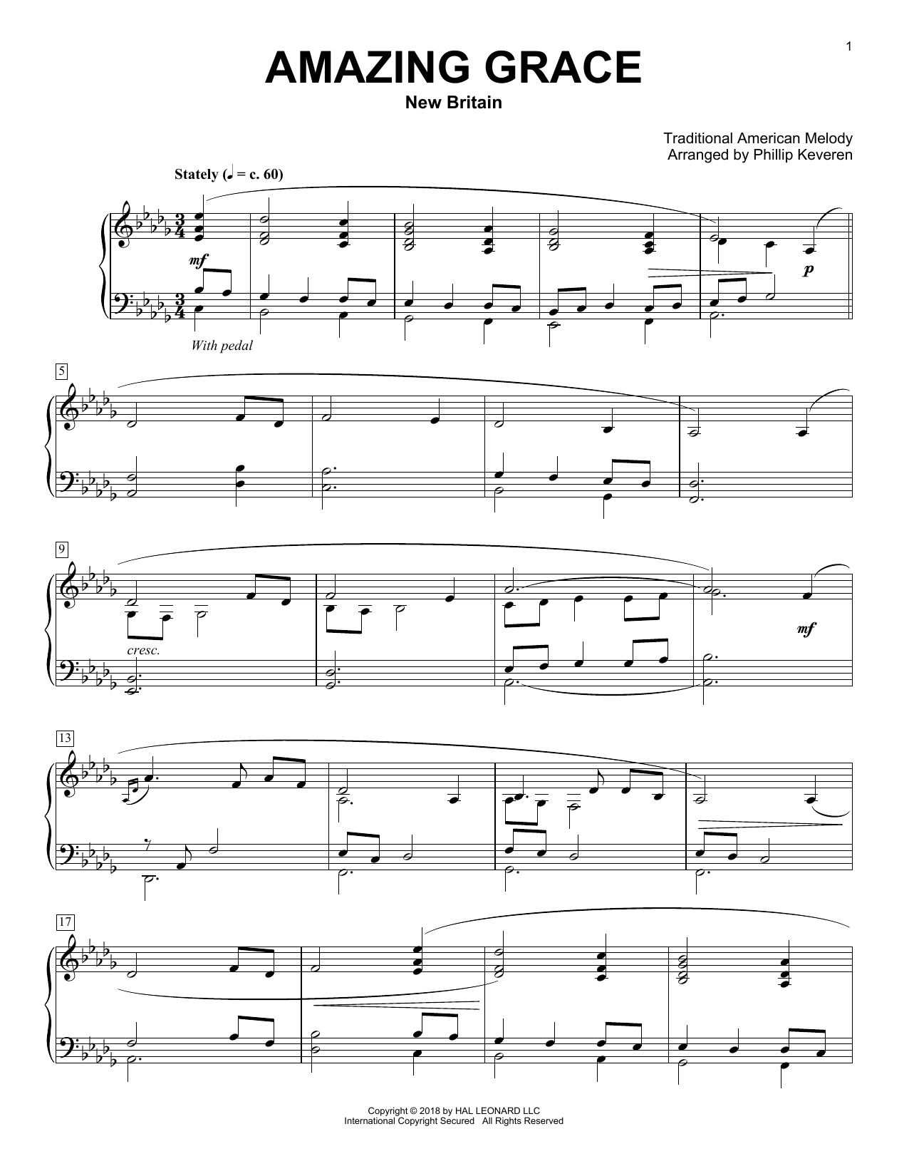Download Phillip Keveren 'Amazing Grace' Digital Sheet Music Notes & Chords and start playing in minutes