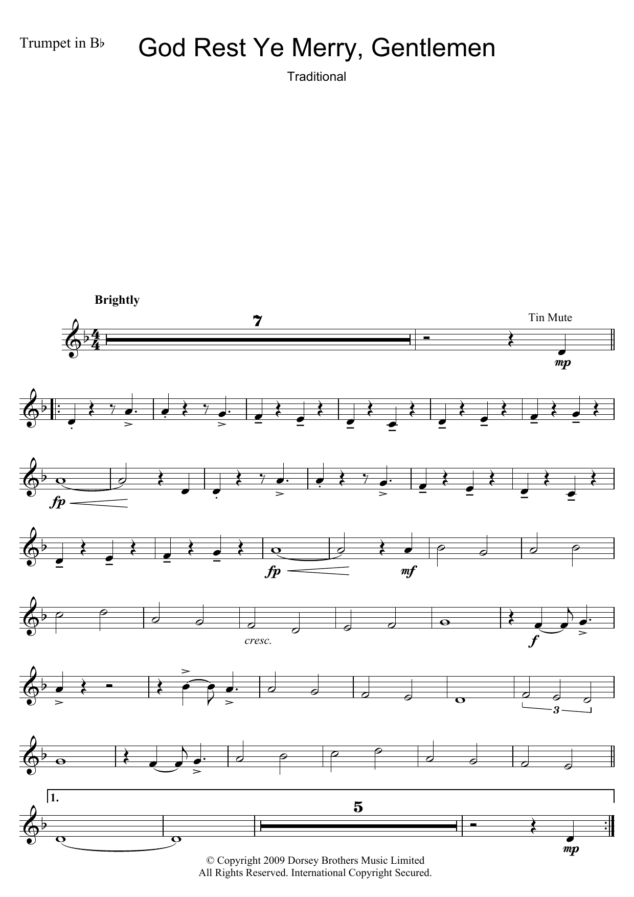 Traditional Carol God Rest Ye Merry, Gentlemen sheet music preview music notes and score for Ukulele including 2 page(s)