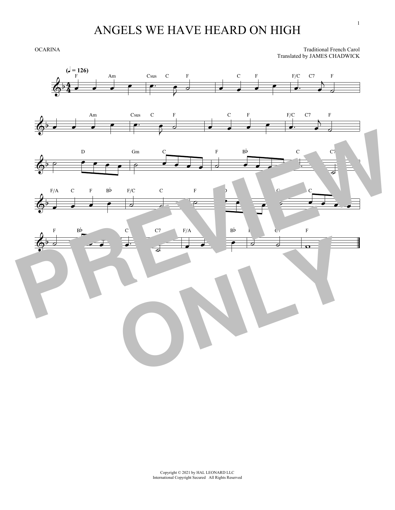 Traditional Carol Angels We Have Heard On High sheet music preview music notes and score for Guitar Tab including 2 page(s)