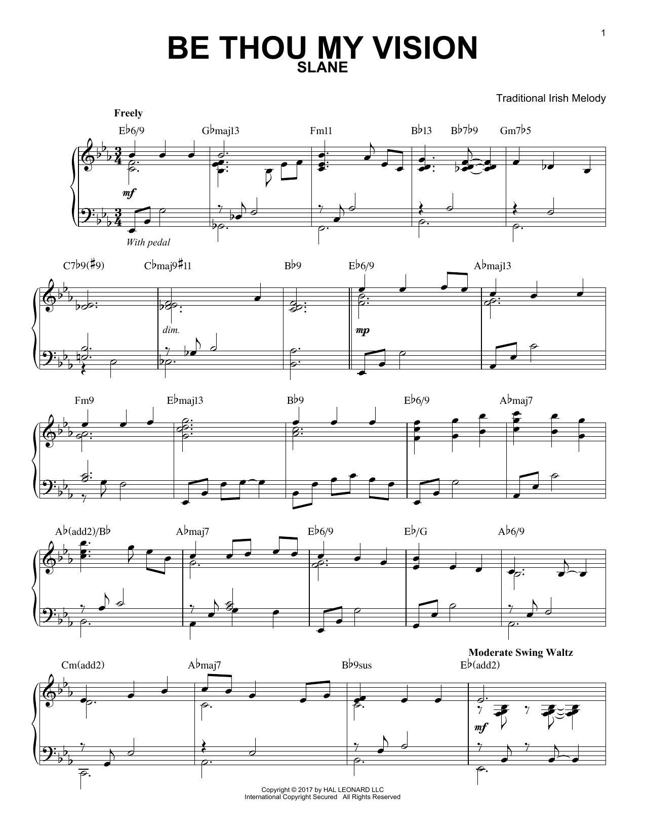 Download Traditional Irish 'Be Thou My Vision' Digital Sheet Music Notes & Chords and start playing in minutes