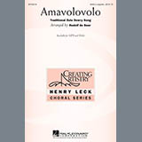 Download Traditional Zulu Dowry Song Amavolovolo (arr. Rudolf de Beer) Sheet Music arranged for SSAA Choir - printable PDF music score including 6 page(s)