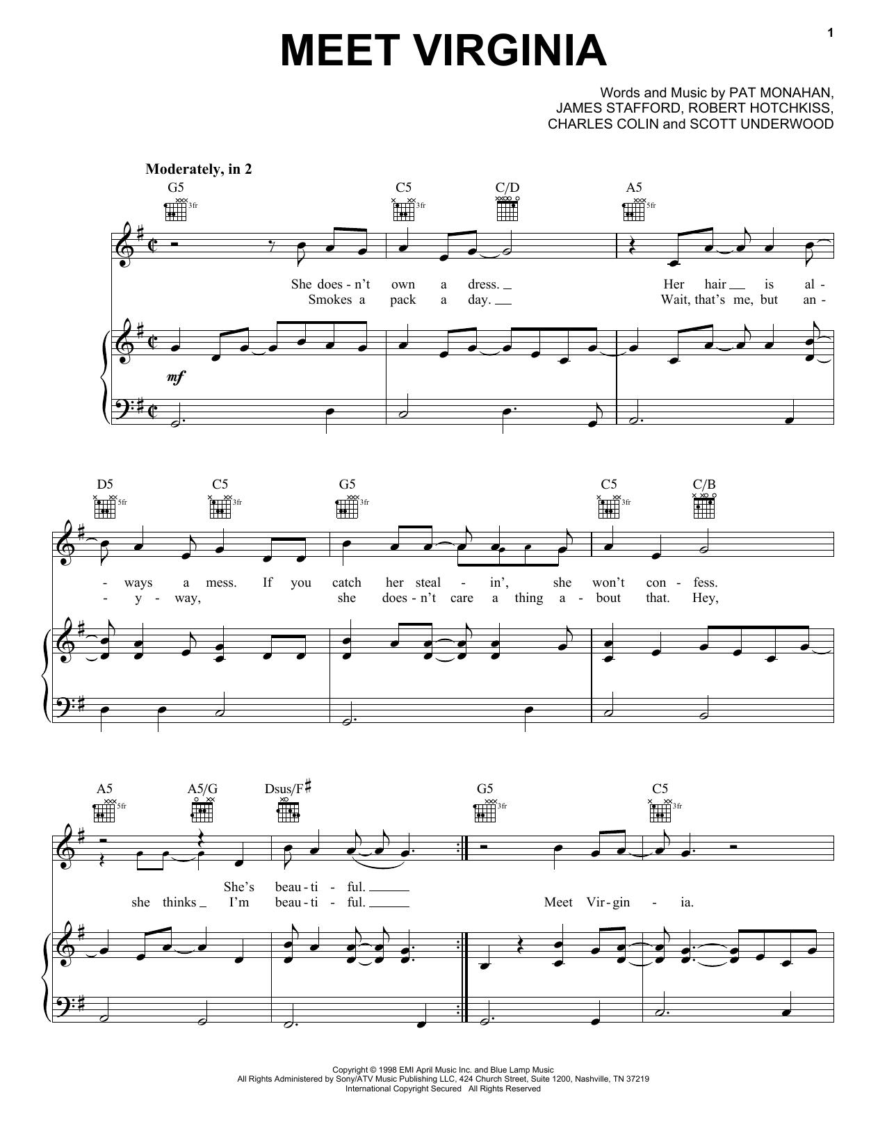 Train Meet Virginia sheet music notes and chords