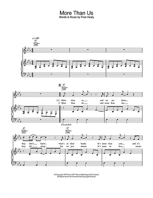 Travis More Than Us sheet music notes and chords