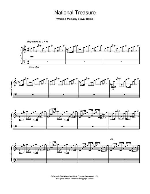 Download Trevor Rabin 'National Treasure (National Treasure Suite/Ben/Treasure)' Digital Sheet Music Notes & Chords and start playing in minutes