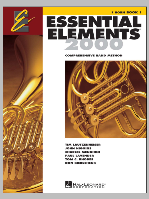 Download Various 'Essential Elements 2000, Bk 1 For F Horn (Book Only)' Digital Sheet Music Notes & Chords and start playing in minutes