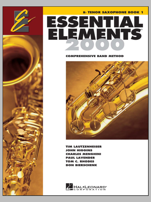 Download Various 'Essential Elements 2000, Book 1 For Bb Tenor Saxophone (Book Only)' Digital Sheet Music Notes & Chords and start playing in minutes