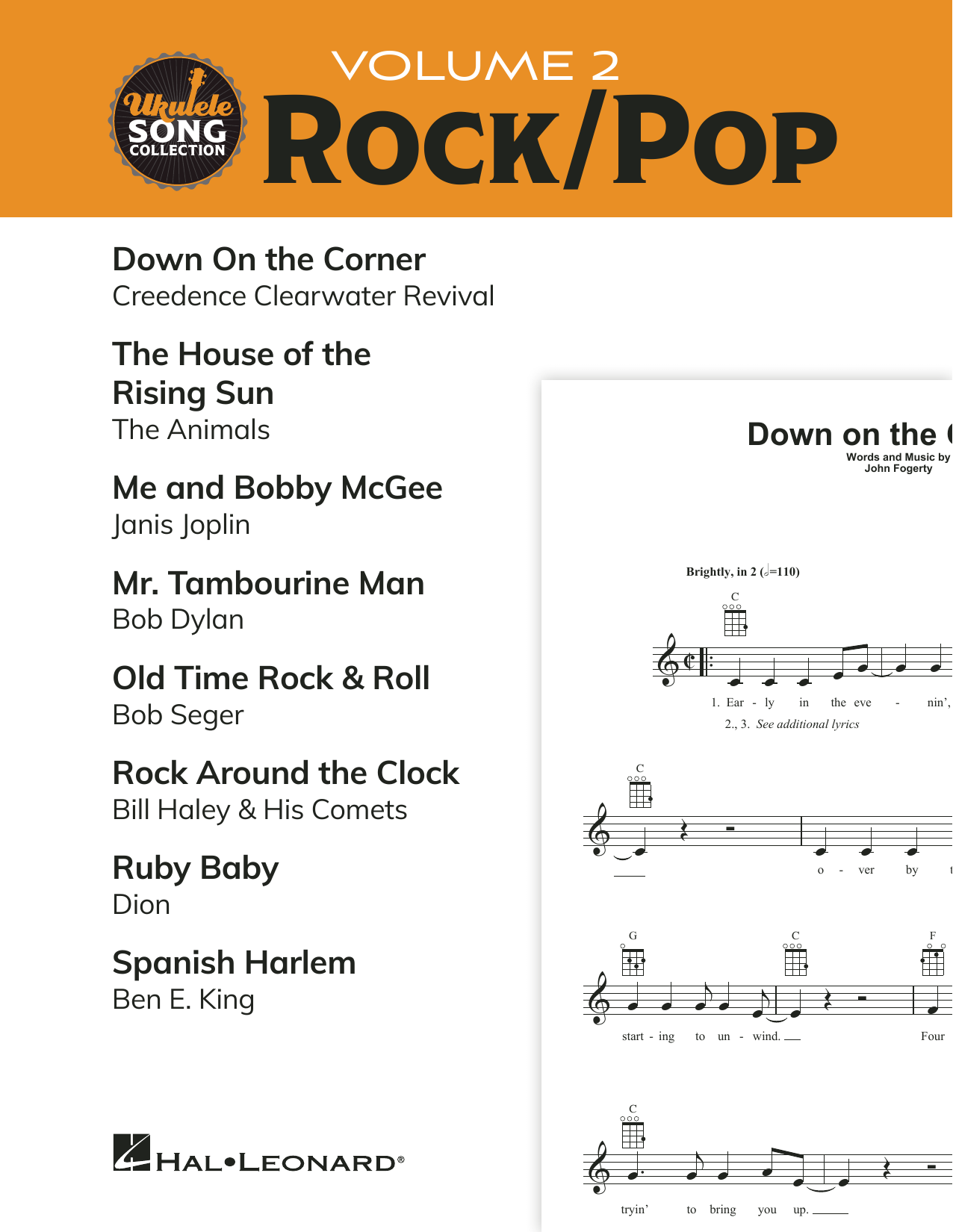 Various Ukulele Song Collection, Volume 2: Rock/Pop sheet music preview music notes and score for Ukulele Collection including 21 page(s)