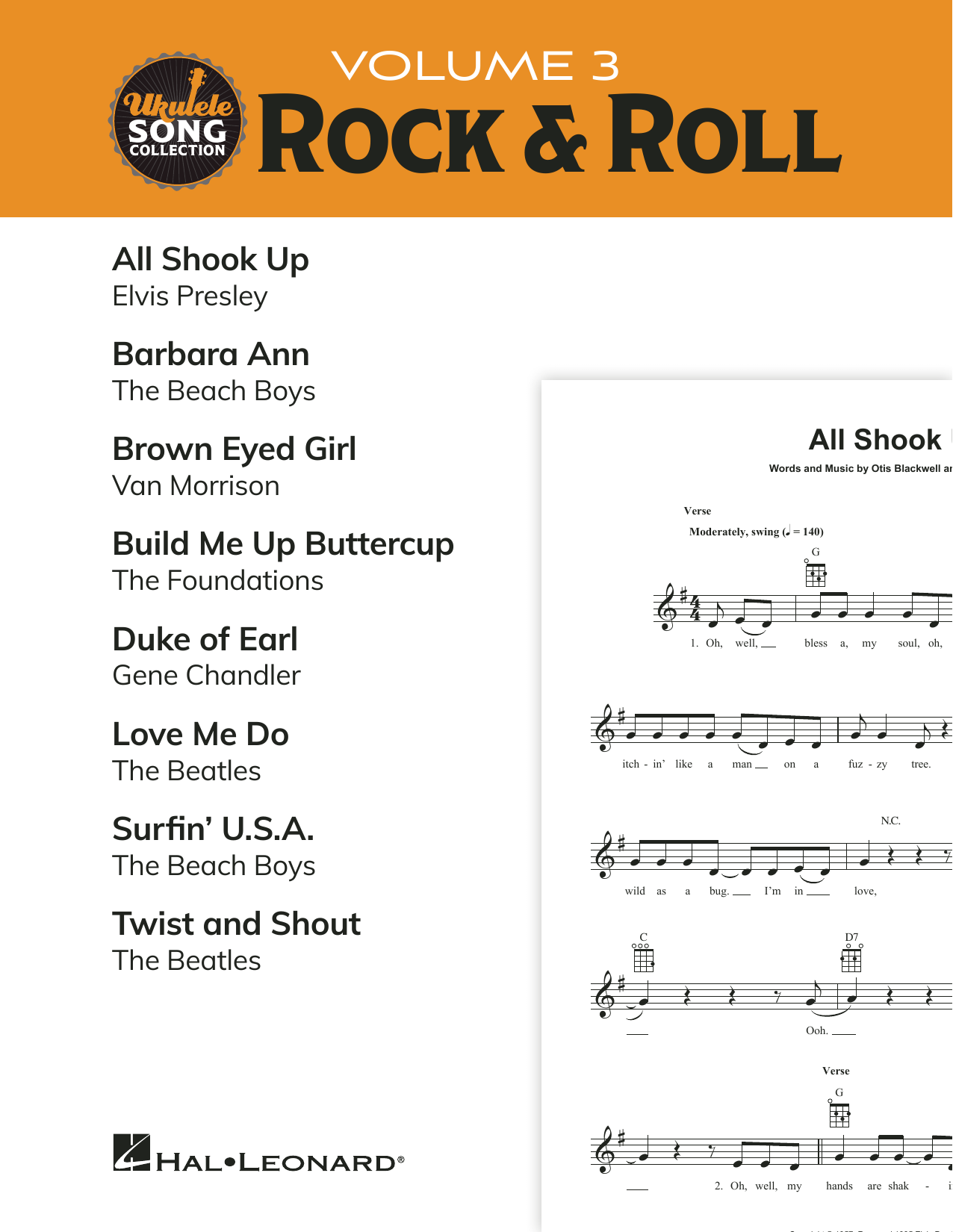 Download Various 'Ukulele Song Collection, Volume 3: Rock & Roll' Digital Sheet Music Notes & Chords and start playing in minutes