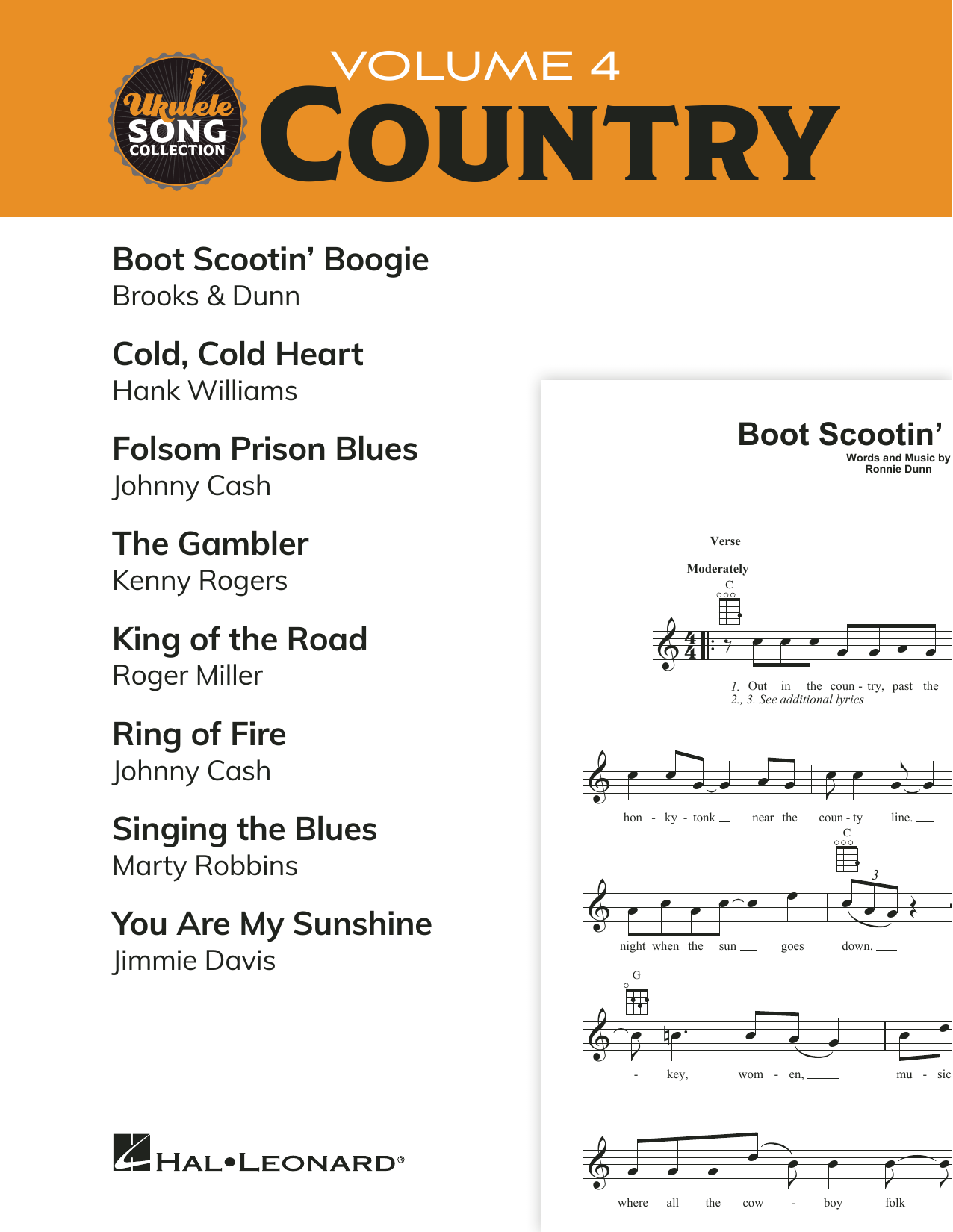 Download Various 'Ukulele Song Collection, Volume 4: Country' Digital Sheet Music Notes & Chords and start playing in minutes