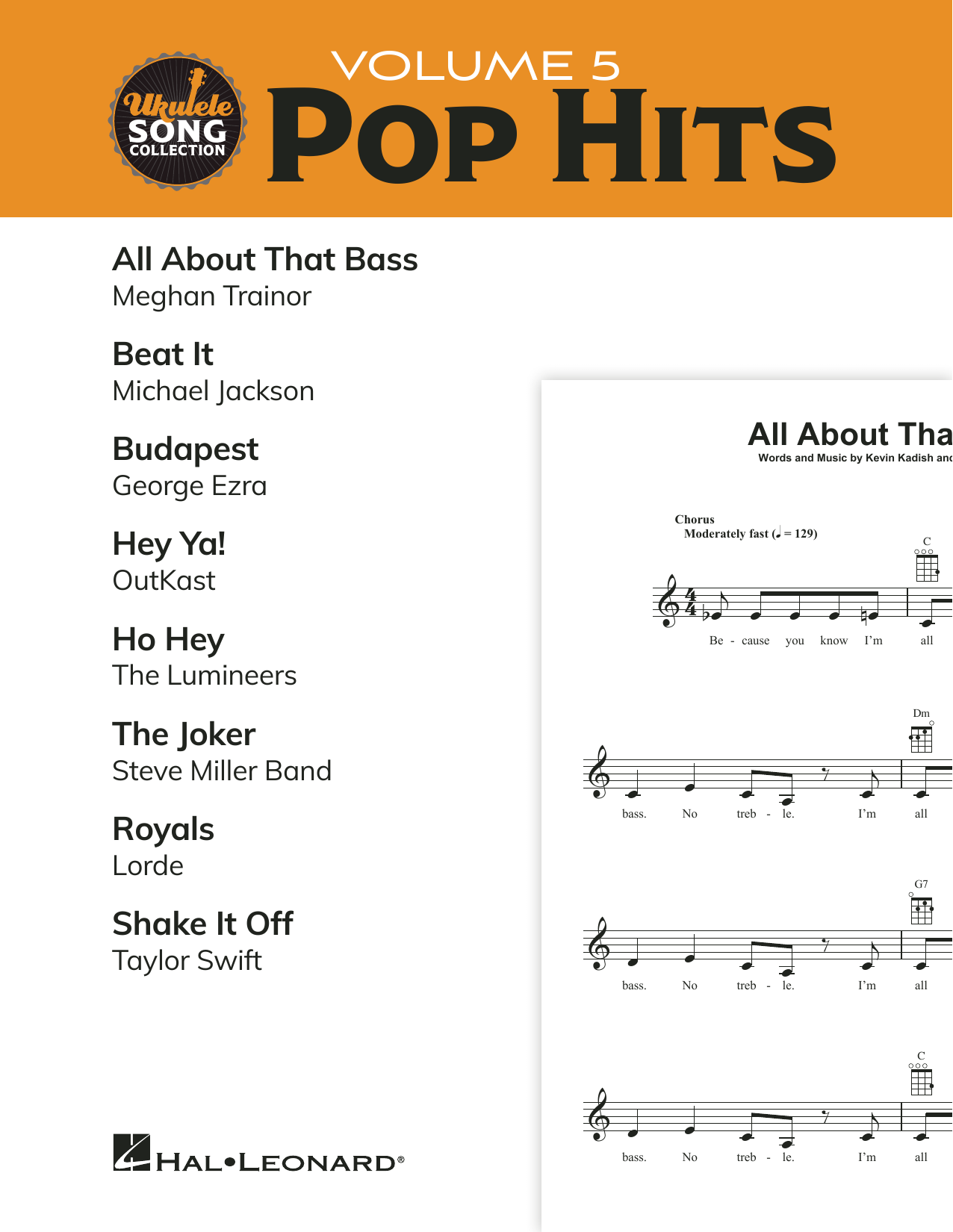 Various Ukulele Song Collection, Volume 5: Pop Hits sheet music preview music notes and score for Ukulele Collection including 34 page(s)
