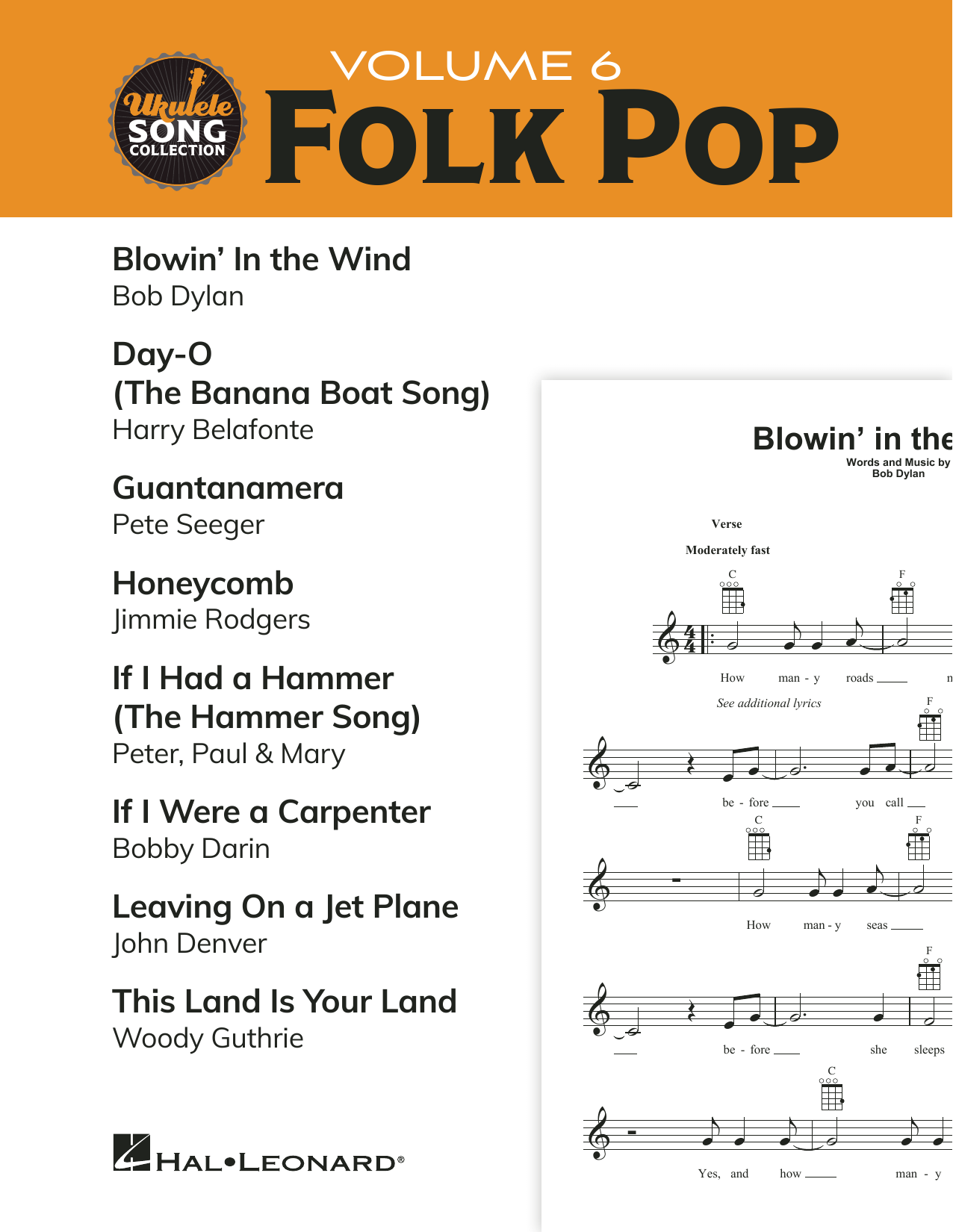 Download Various 'Ukulele Song Collection, Volume 6: Folk Pop' Digital Sheet Music Notes & Chords and start playing in minutes