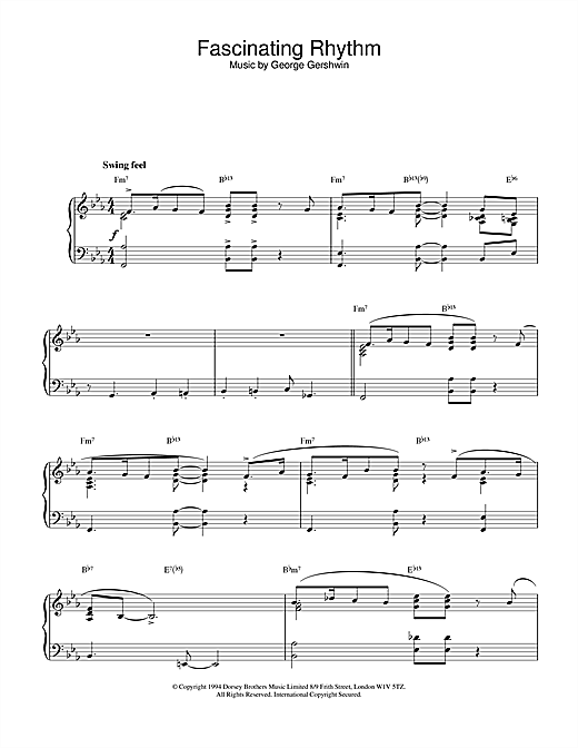 Download Vinicius De Moraes 'Fascinating Rhythm' Digital Sheet Music Notes & Chords and start playing in minutes