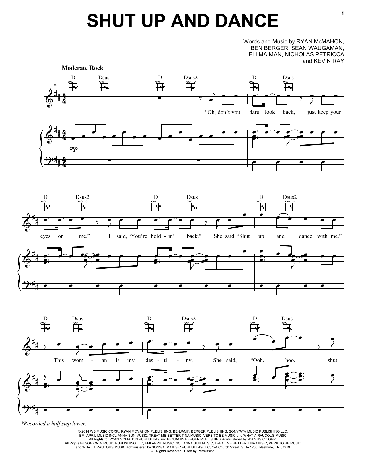 Walk The Moon Shut Up And Dance sheet music preview music notes and score for Drums Transcription including 2 page(s)