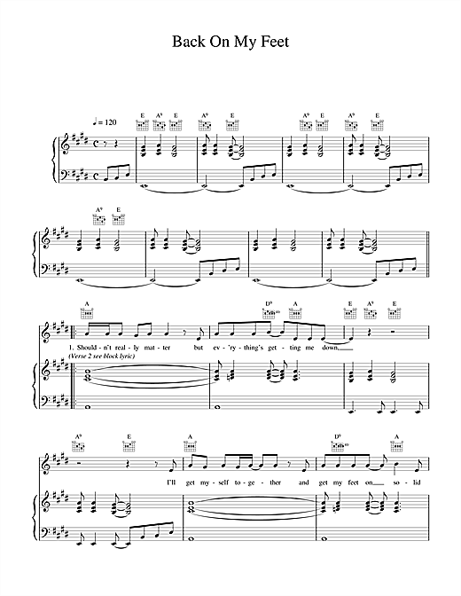 Wet Wet Wet Back On My Feet sheet music notes and chords