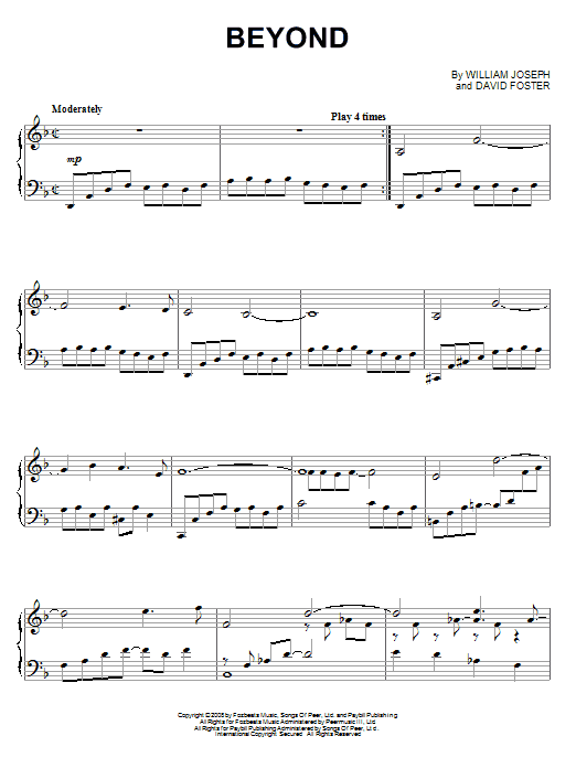 Download William Joseph 'Beyond' Digital Sheet Music Notes & Chords and start playing in minutes
