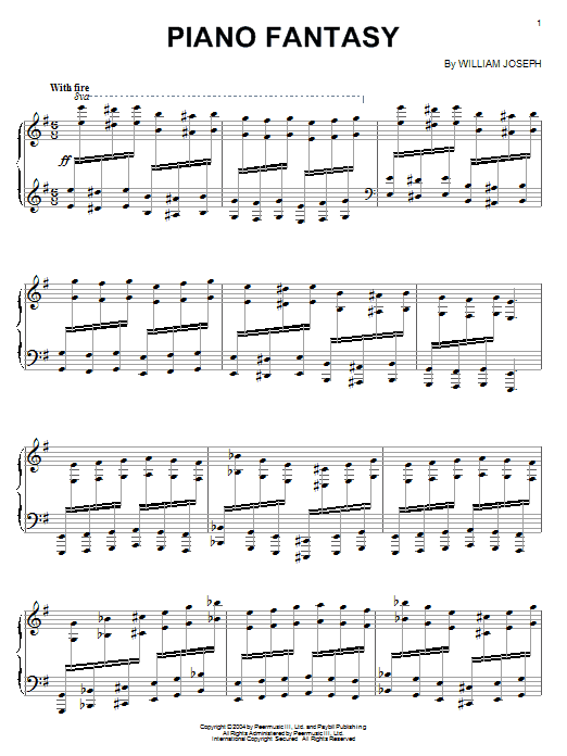 Download William Joseph 'Piano Fantasy' Digital Sheet Music Notes & Chords and start playing in minutes