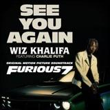 Download or print See You Again (feat. Charlie Puth) Sheet Music Notes by Wiz Khalifa for Piano