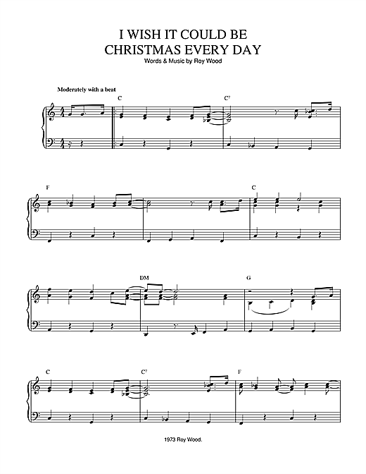 Download Wizzard 'I Wish It Could Be Christmas Every Day' Digital Sheet Music Notes & Chords and start playing in minutes