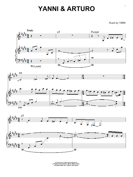 Download Yanni 'Yanni & Arturo' Digital Sheet Music Notes & Chords and start playing in minutes