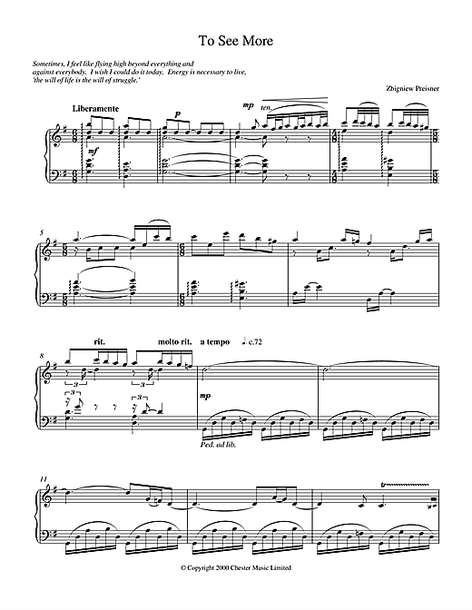 Zbigniew Preisner To See More sheet music notes and chords